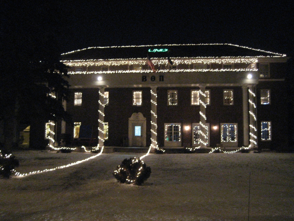 The Gamma Kappa chapter has won numerous awards from the City of Grand Forks for their winter lights displays.